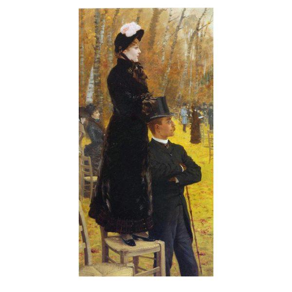 Alle Corse di Auteuil di Giuseppe De Nittis Stampa su tela per dipingere, compresa di telaio dell'opera Alle Corse di Auteuil di Giuseppe De Nittis