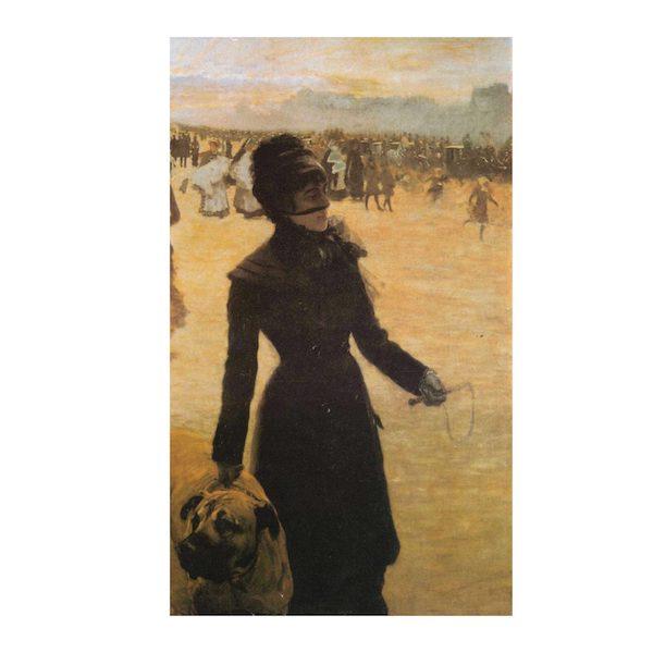 La Signora con Cane di Giuseppe De Nittis