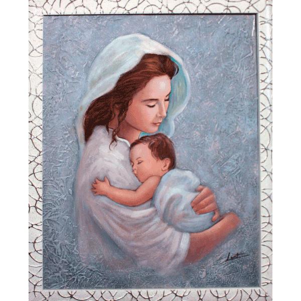 Dipinto Olio su Tela Madonnina