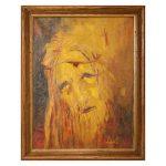 Dipinto del Volto di Cristo Olio su Tela